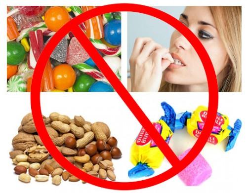 Các thực phẩm cần phải kiêng khem sau khi niềng răng1